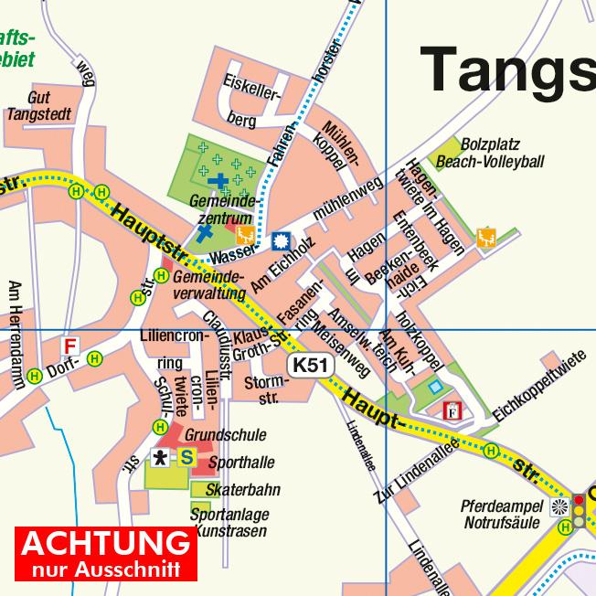hamburg langenhorn karte Norderstedt mit Gemeinde Tangstedt und Hamburg Langenhorn, 1