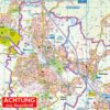 Pinneberg und Amt Pinnau, als Straßenkarte in 1:25.000