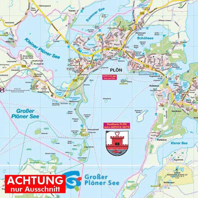 Plon Amt Und Stadt Als Strassenkarte In 1 30 000 Hartmann Plan Ohg