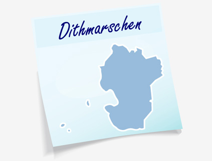 Übersichtskarte Kreis Dithmarschen