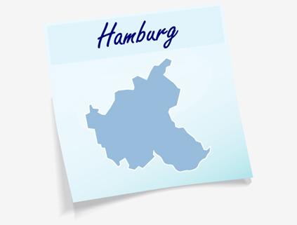 Übersichtskarte Stadt Hamburg