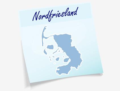 Übersichtskarte Kreis Nordfriesland
